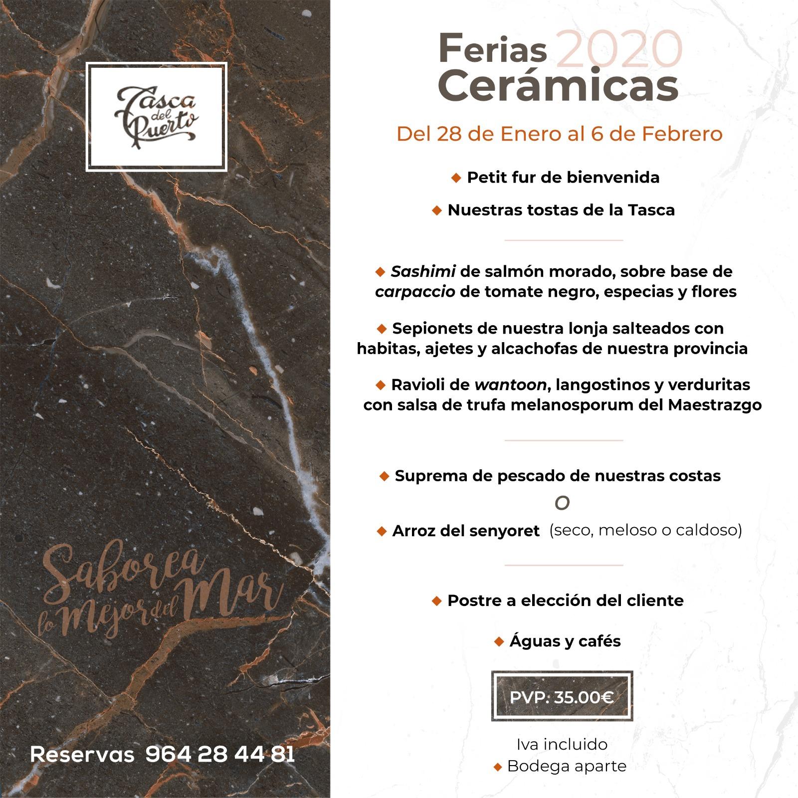 menu ferias ceramicas 2020